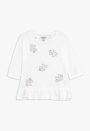 KIDS DROP SHOULDER PEPLUM TEE - Camiseta de manga larga - white