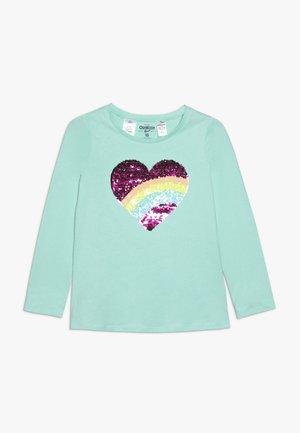 KIDS FLIP SEQUIN - Top sdlouhým rukávem - turquoise