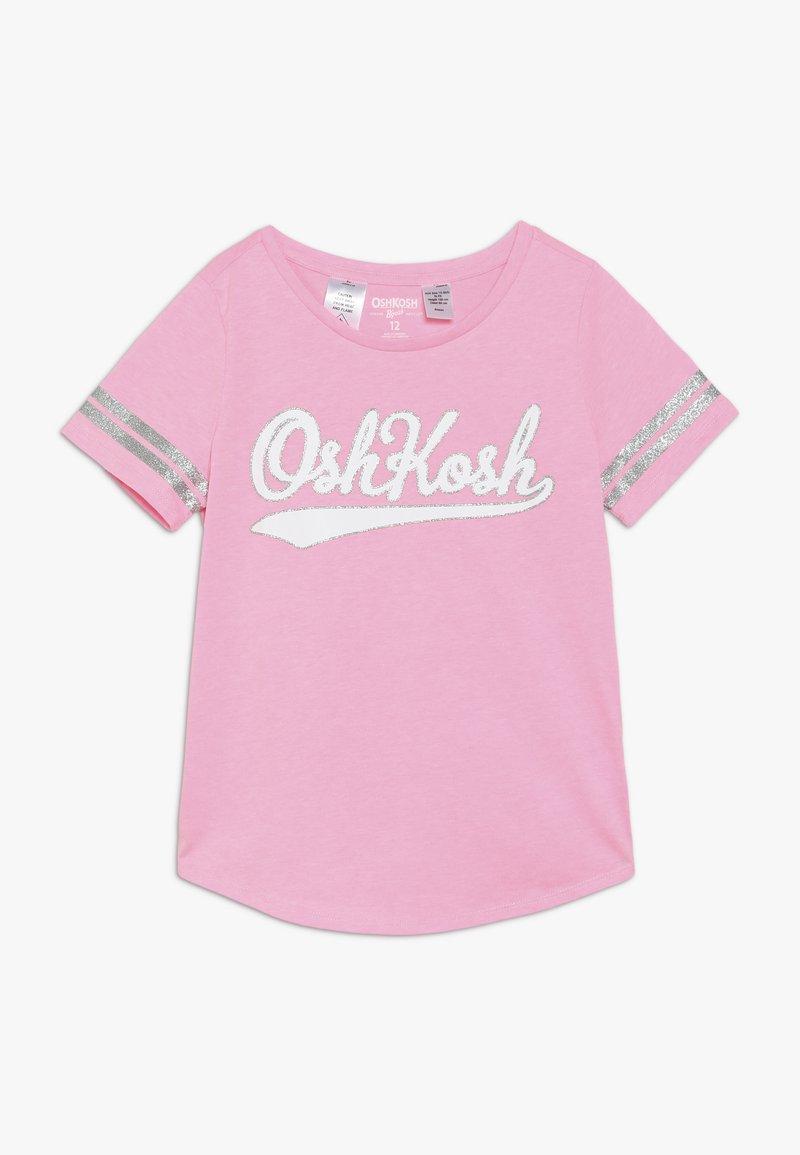 OshKosh - KIDS STRIPE SLEEVE LOGO TEE - Camiseta estampada - pink