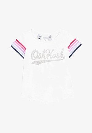 KIDS STRIPE SLEEVE LOGO TEE - T-shirt con stampa - white