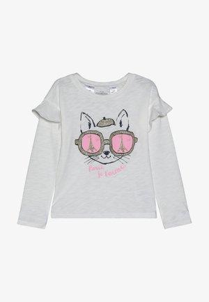 KIDS DROP SHOULDER RUFFLE SLEEVE - Langærmede T-shirts - white