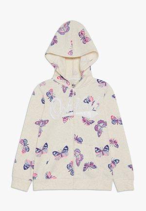 PRINTED LOGO HOODIE - Zip-up hoodie - grey