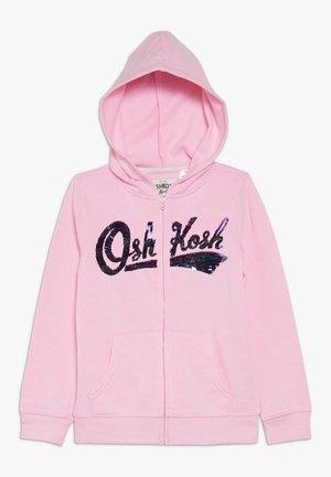 LOGO HOODIE - Huvtröja med dragkedja - pink