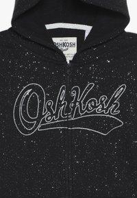 OshKosh - KIDS PRINTED LOGO HOODIE - Zip-up hoodie - black - 4
