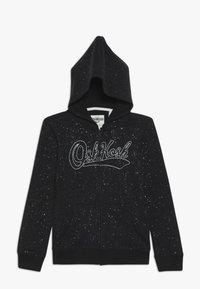 OshKosh - KIDS PRINTED LOGO HOODIE - Zip-up hoodie - black - 0