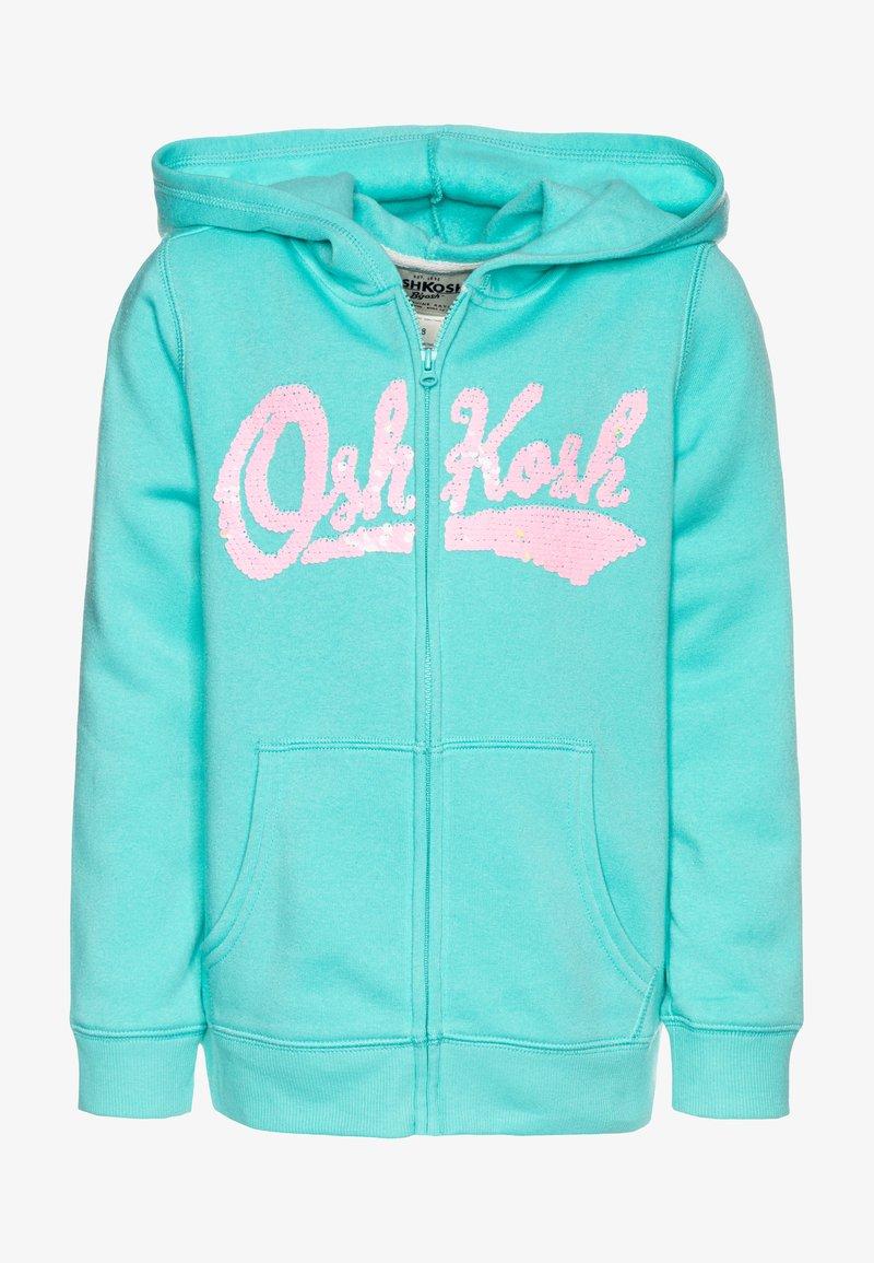 OshKosh - LAYERING - Mikina na zip - turquoise