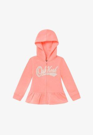 LAYERING - veste en sweat zippée - apricot