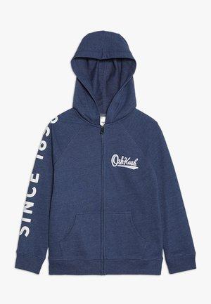 RAGLAN FULL ZIP HOODIE - Zip-up hoodie - blue