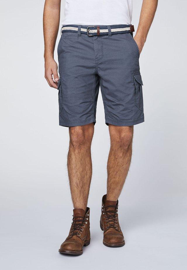 MIT GÜRTEL - Shorts - ombre blue