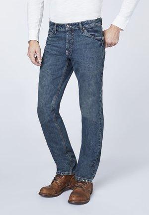 LAKE - Straight leg jeans - dark blue denim