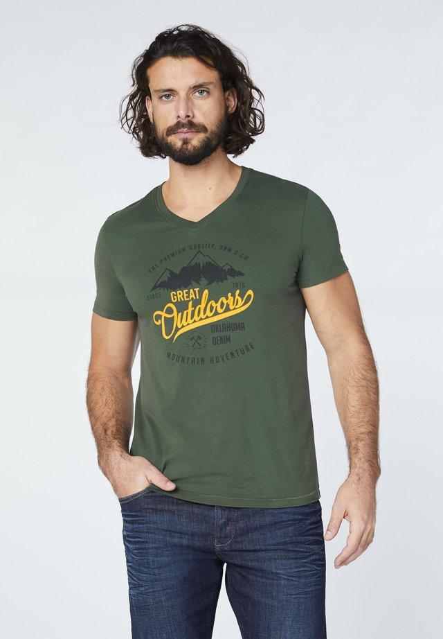 Print T-shirt - deep forest