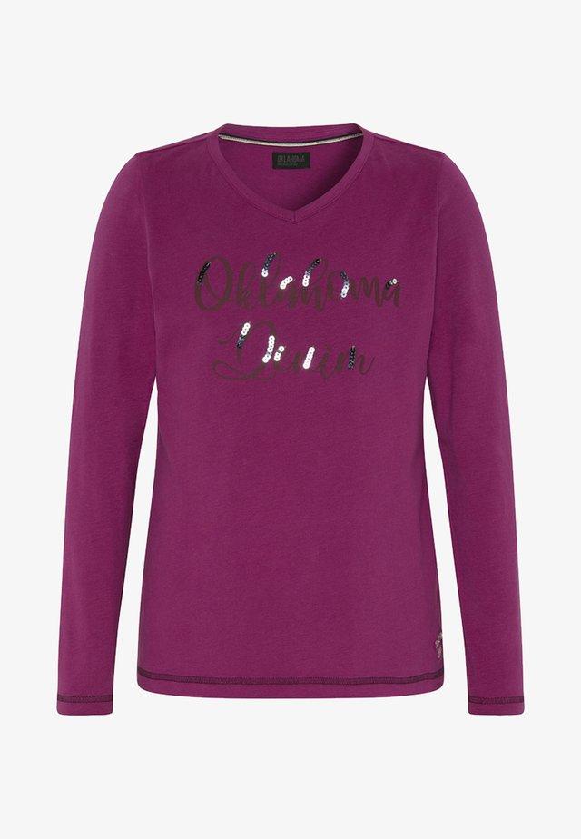 MIT V-AUSSCHNITT  - Long sleeved top - pink
