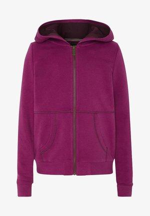 MIT GROSSEM RÜCKENPRINT  - Zip-up hoodie - purple