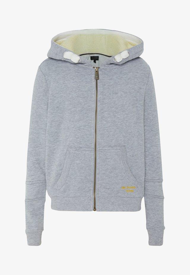 MIT GROSSEM RÜCKENPRINT  - Zip-up hoodie - neutr. gray
