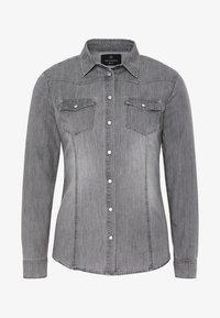 Oklahoma Jeans - MIT ZWEI BRUSTTASCHEN - Button-down blouse - charcoal grey - 5