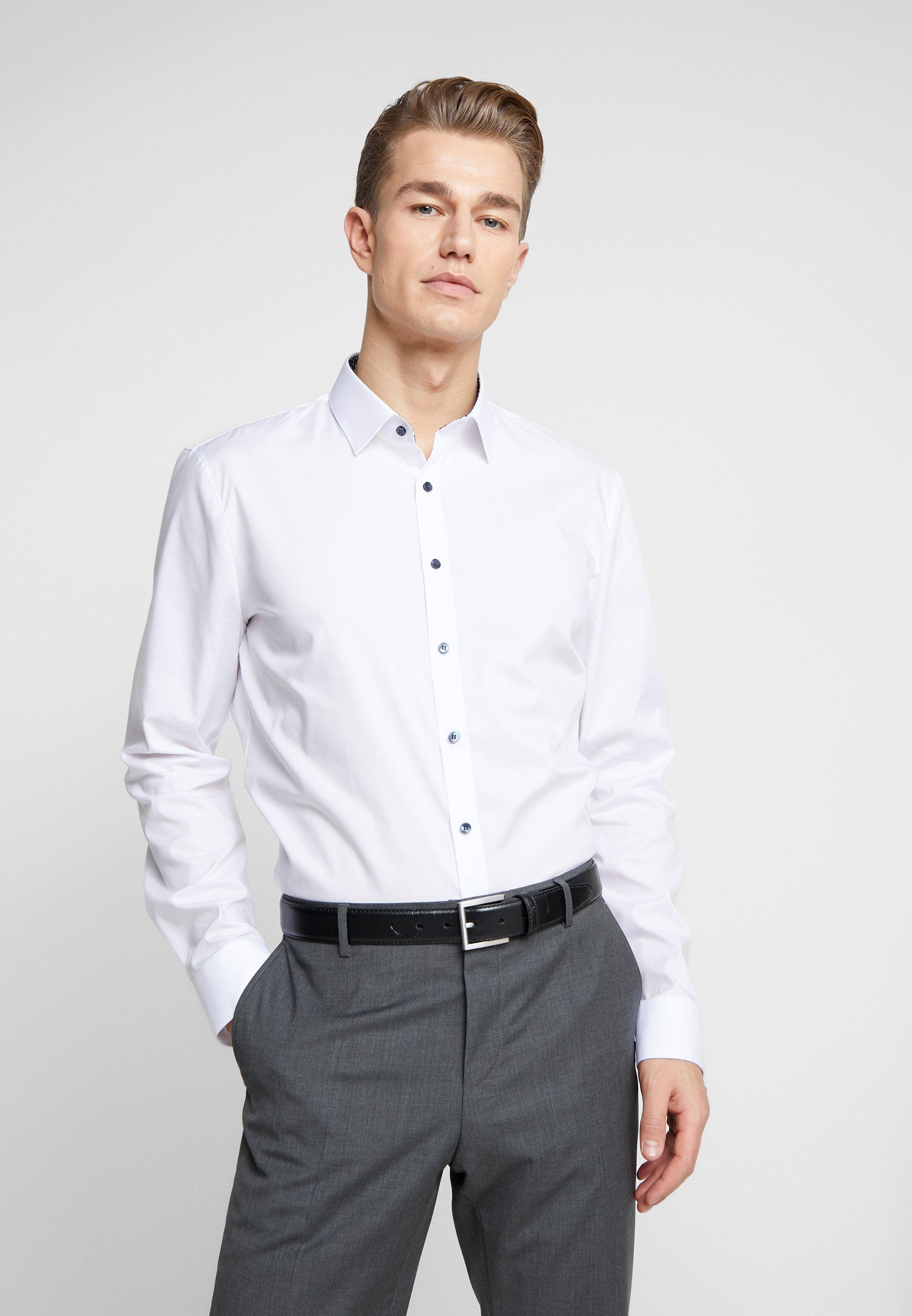 OLYMP OLYMP NO.6 SUPER SLIM FIT - Koszula biznesowa - weiss