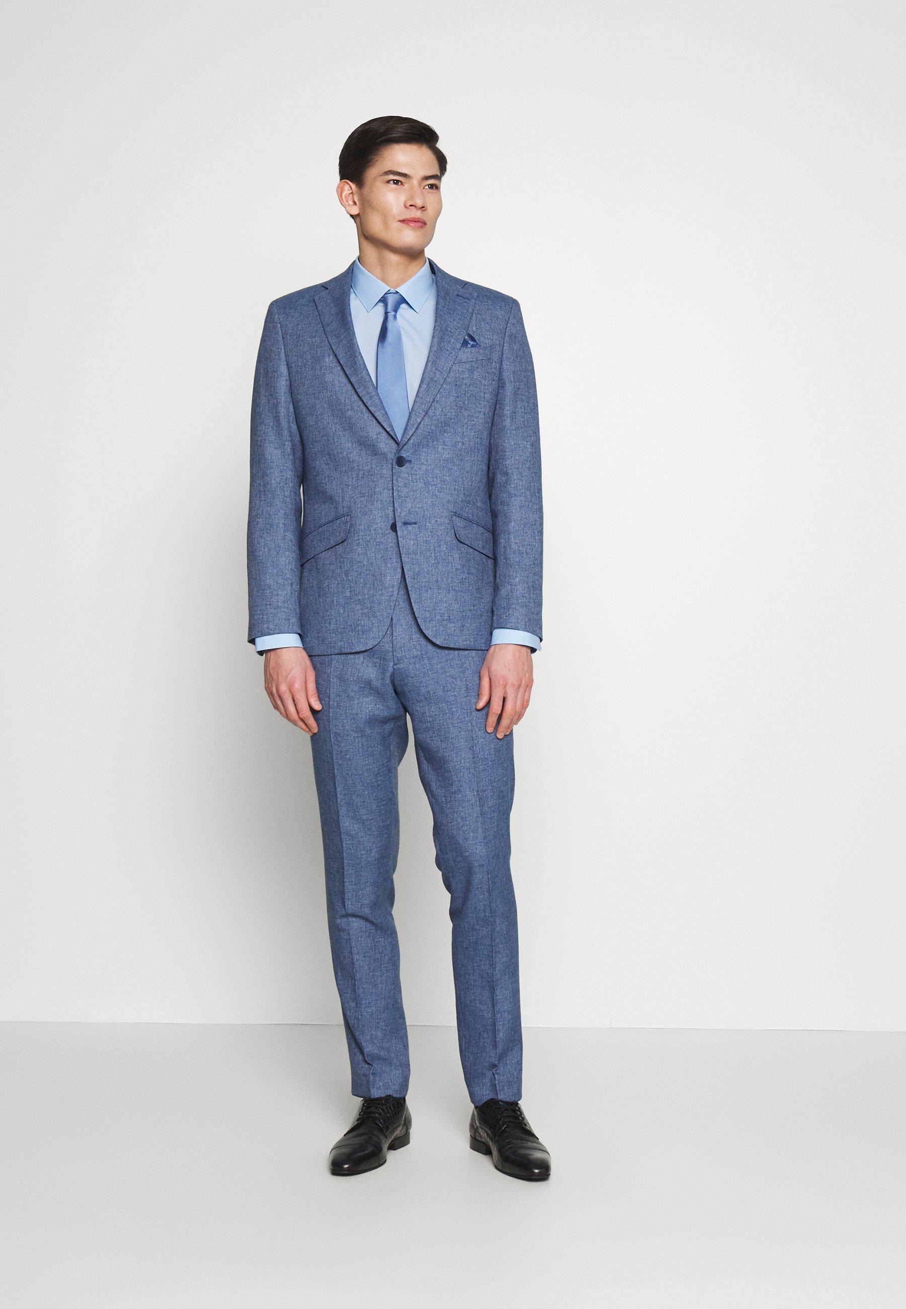 Olymp No.6 Super Slim Fit - Finskjorte Light Blue