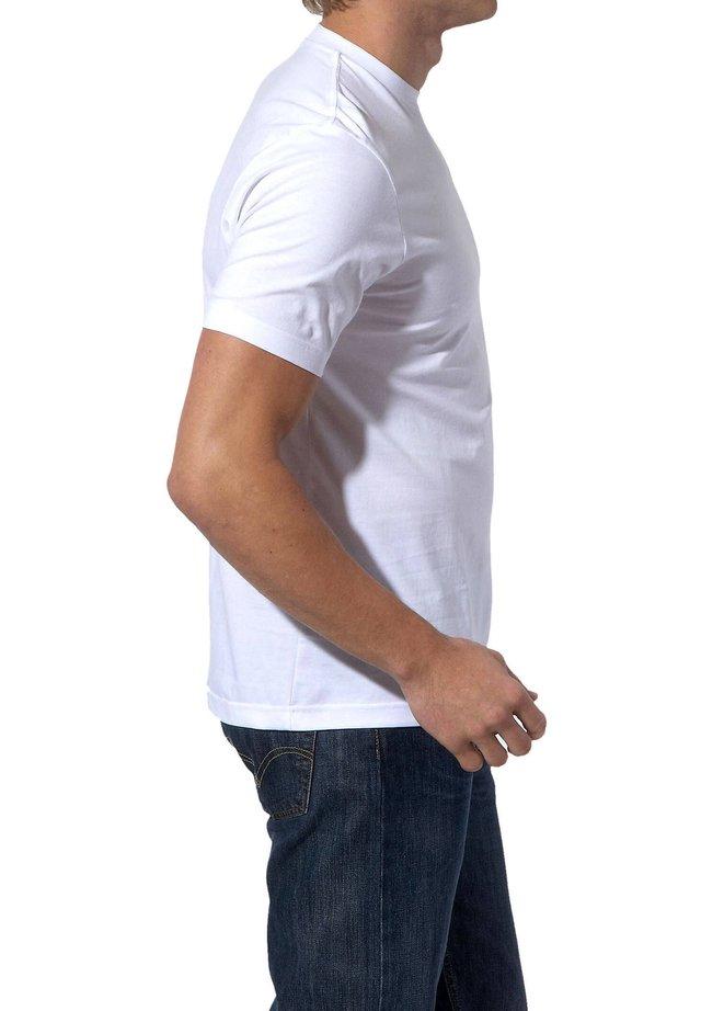 OLYMP HERREN T-SHIRT - DOPPELPACK O-NECK - Basic T-shirt - white