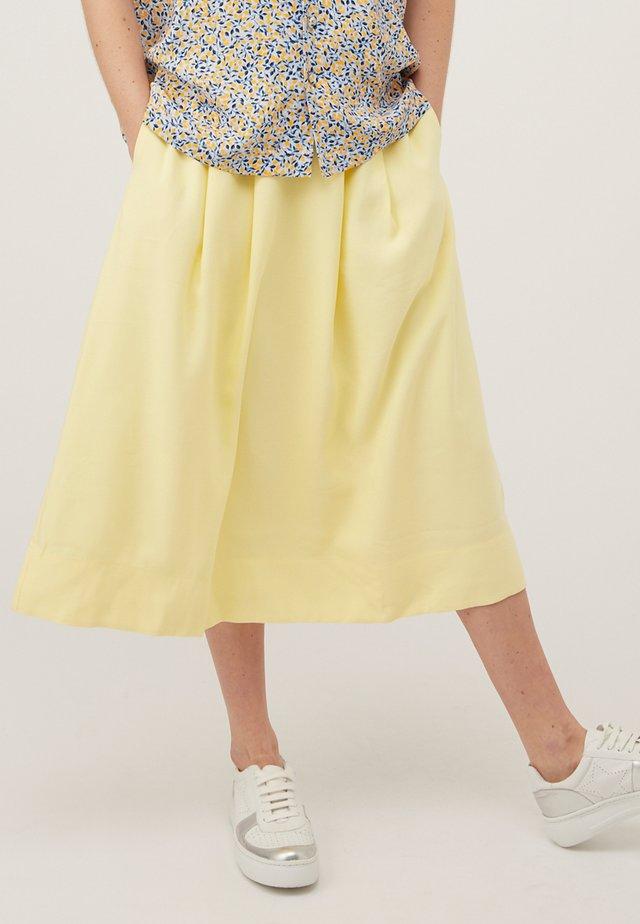 Spódnica trapezowa - jaune