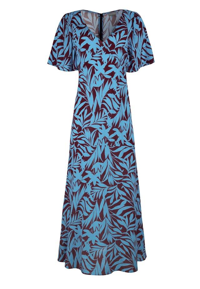 SHADOW PALM PRINT - Maxi-jurk - blue