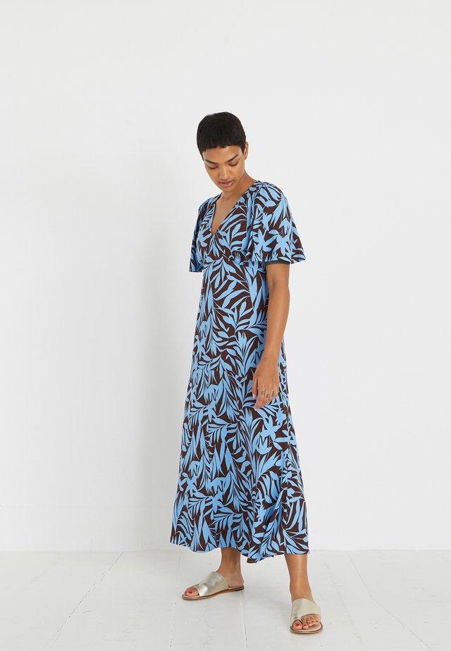 SHADOW PALM PRINT - Robe longue - blue