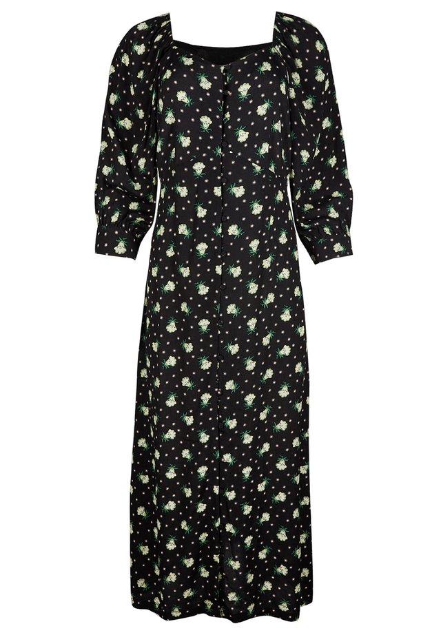 SUNDAZE FLORAL PRINT - Korte jurk - black
