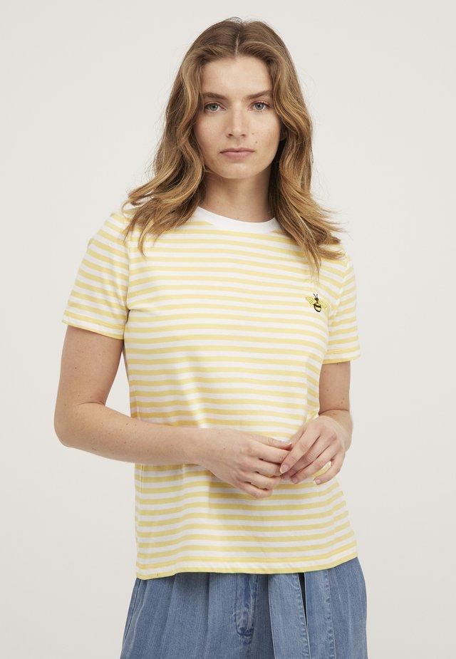 T-shirt imprimé - yellow