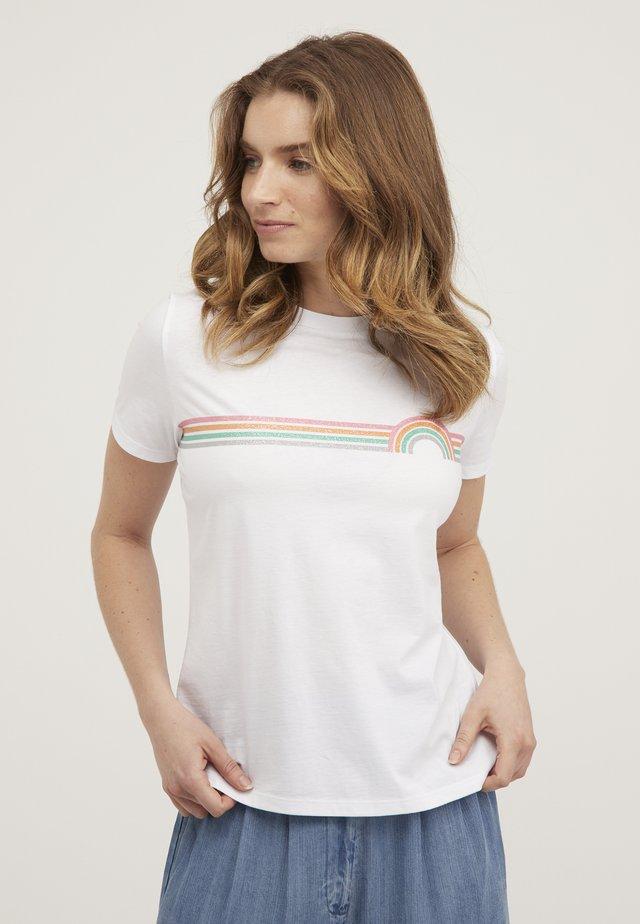 RAINBOW  - T-shirt imprimé - white