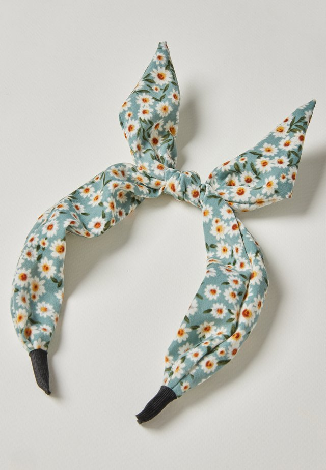CHAMOMILE DITSY FLORAL PRINT BOW HEADBAND - Hair styling accessory - blue