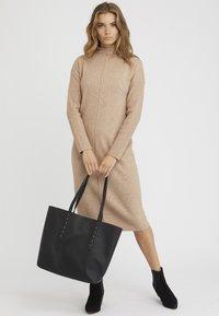 Oliver Bonas - RAYNE STUDDED  - Shopping Bag - black - 0