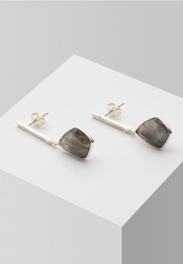 Earrings - grey