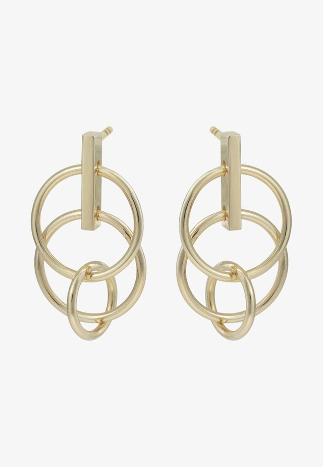 PRIMO MINI INTERLINKED CIRCLES - Earrings - gold-coloured