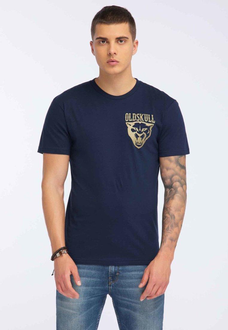 Oldskull - T-shirt print - navy blue