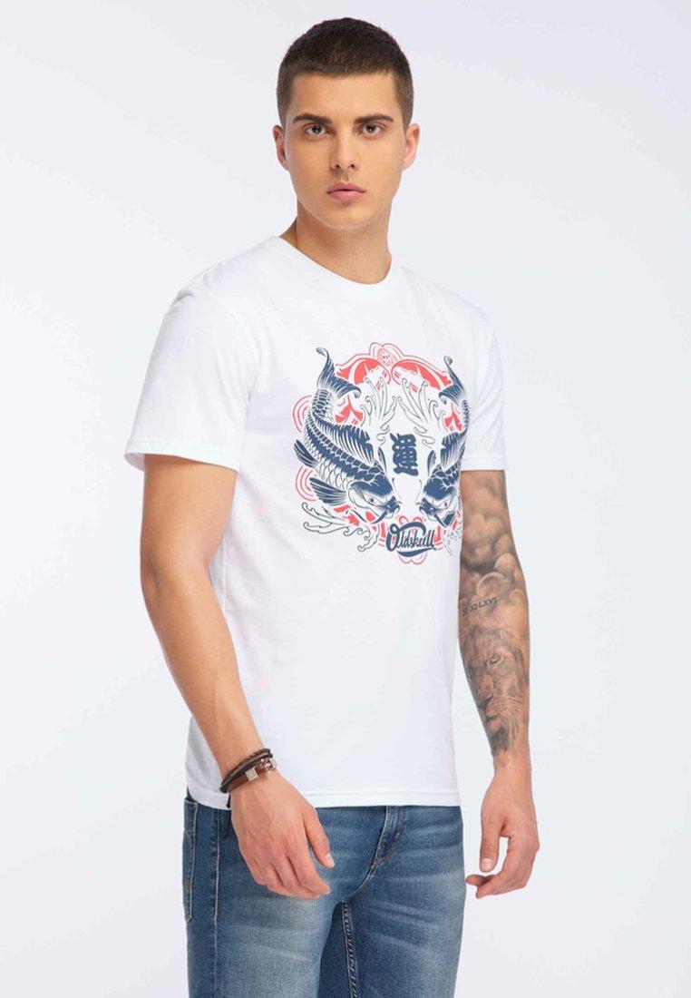 Oldskull T-shirt z nadrukiem - white