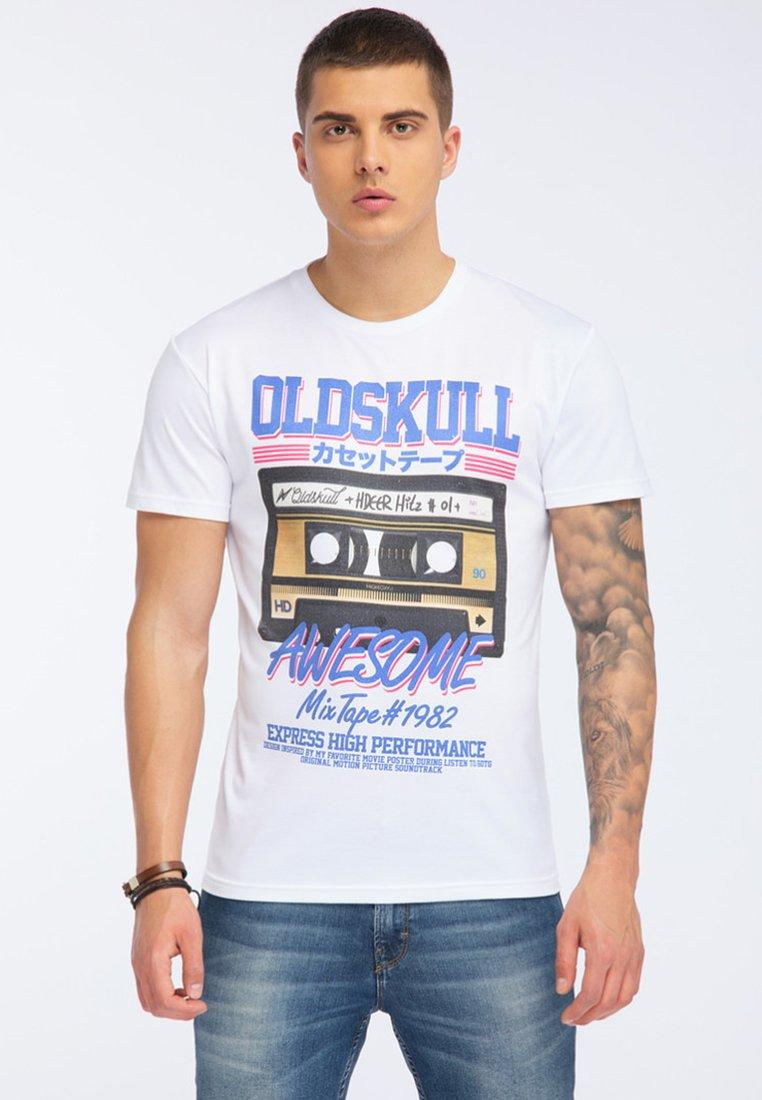 Oldskull - T-shirt print - white