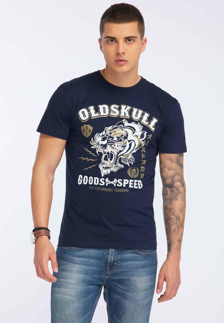 Oldskull - Print T-shirt - navy blue