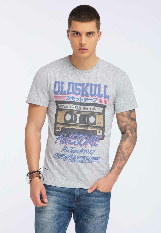 OLDSKULL T-SHIRT PRINT - Print T-shirt - grey melange