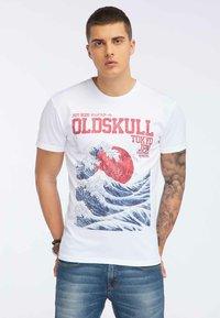 Oldskull - OLDSKULL T-SHIRT PRINT - T-shirt imprimé - white - 0