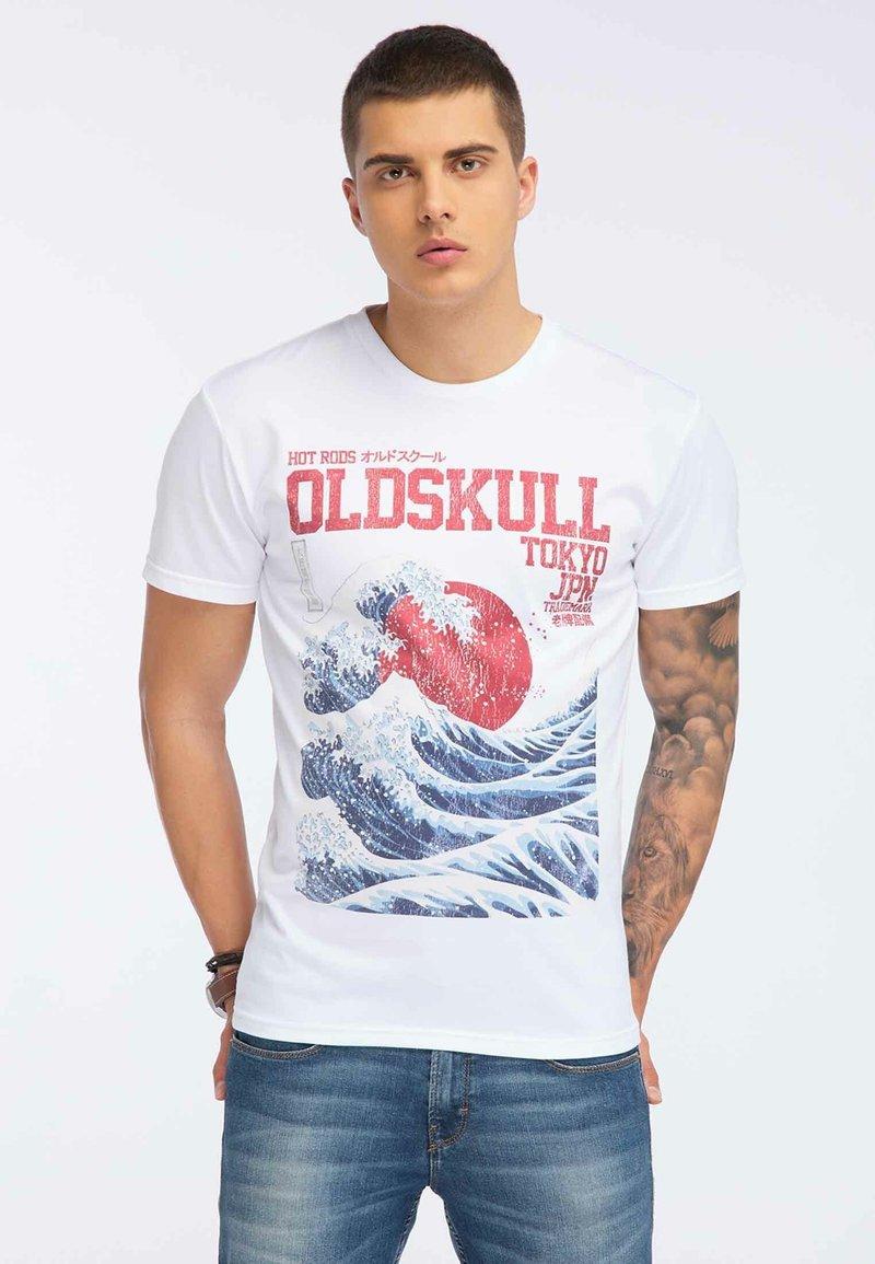 Oldskull - OLDSKULL T-SHIRT PRINT - T-shirt imprimé - white