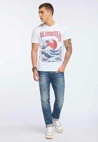 Oldskull - OLDSKULL T-SHIRT PRINT - T-shirt imprimé - white - 1