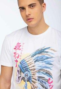 Oldskull - OLDSKULL T-SHIRT PRINT - T-shirt imprimé - white - 3