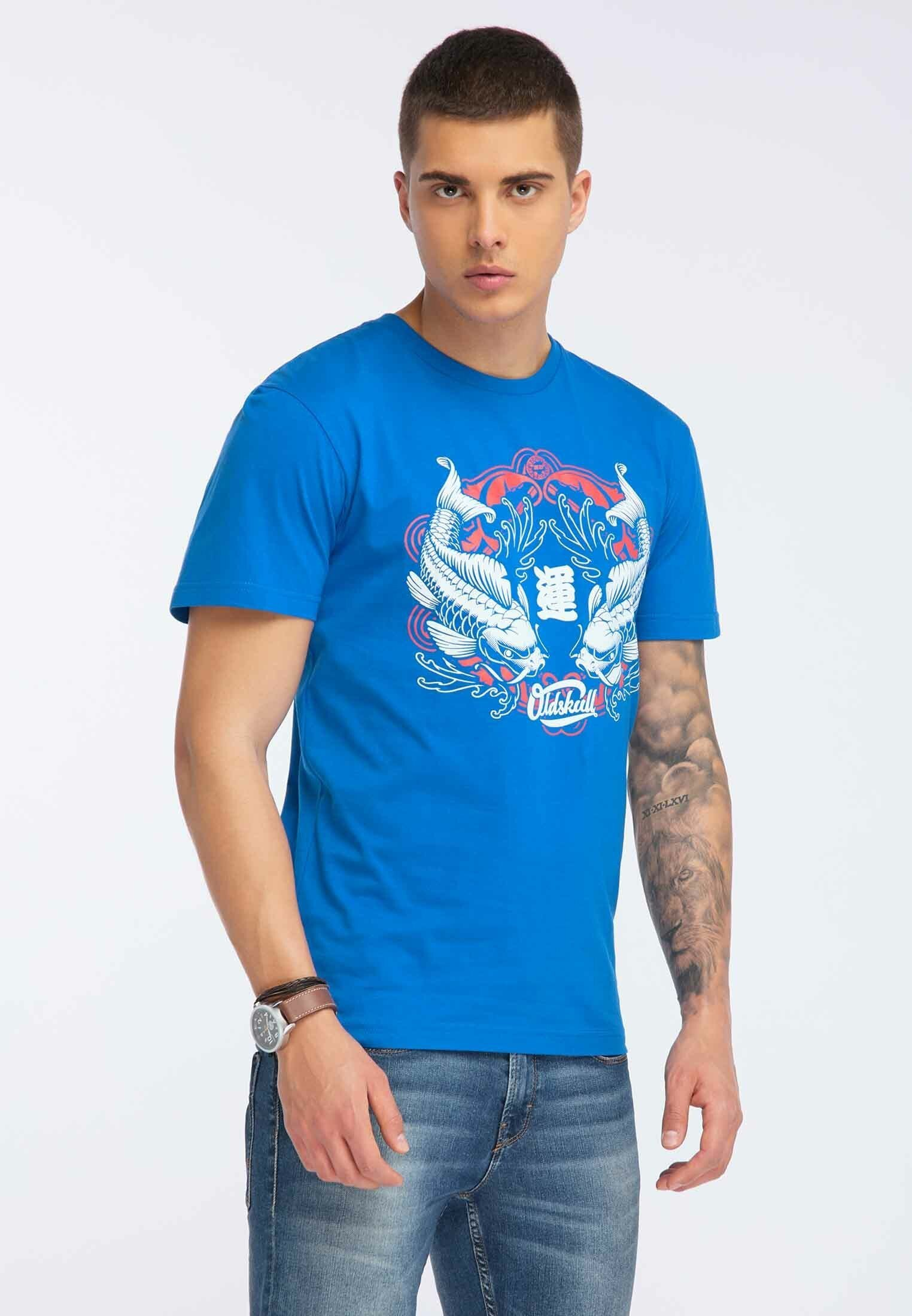 Oldskull OLDSKULL T-SHIRT PRINT - T-shirt z nadrukiem - blue