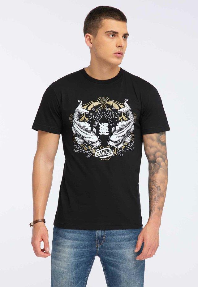 OLDSKULL T-SHIRT PRINT - T-shirt print - black