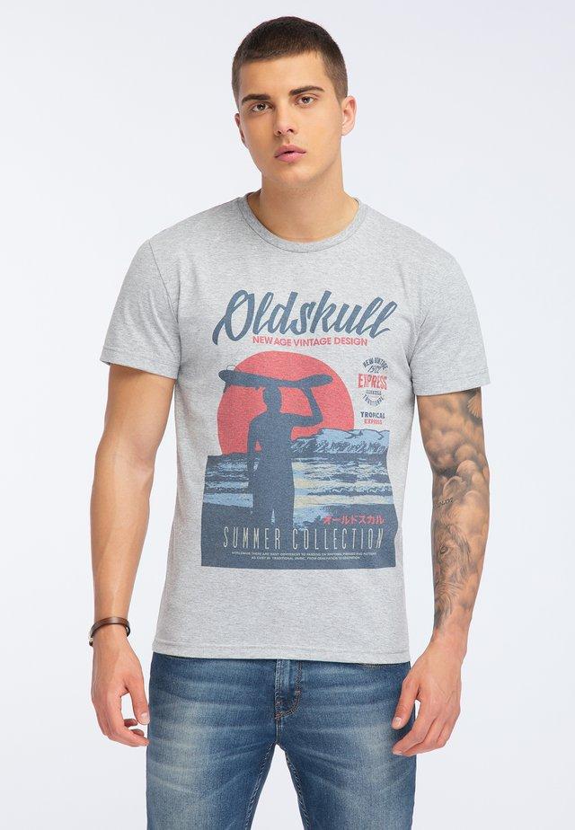 OLDSKULL T-SHIRT PRINT - T-shirt print - grey melange