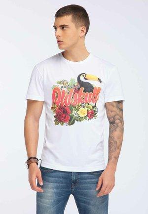 OLDSKULL T-SHIRT PRINT - T-shirt imprimé - white