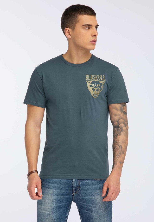 OLDSKULL T-SHIRT PRINT - T-shirt print - dark green