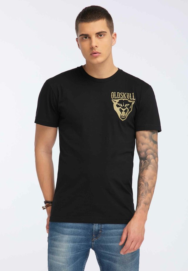 OLDSKULL T-SHIRT PRINT - Print T-shirt - black