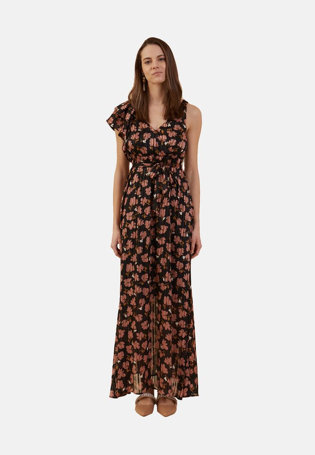 VESTIDO LARGO CON ESTAMPADO DE FLORES - Maxi dress - nero