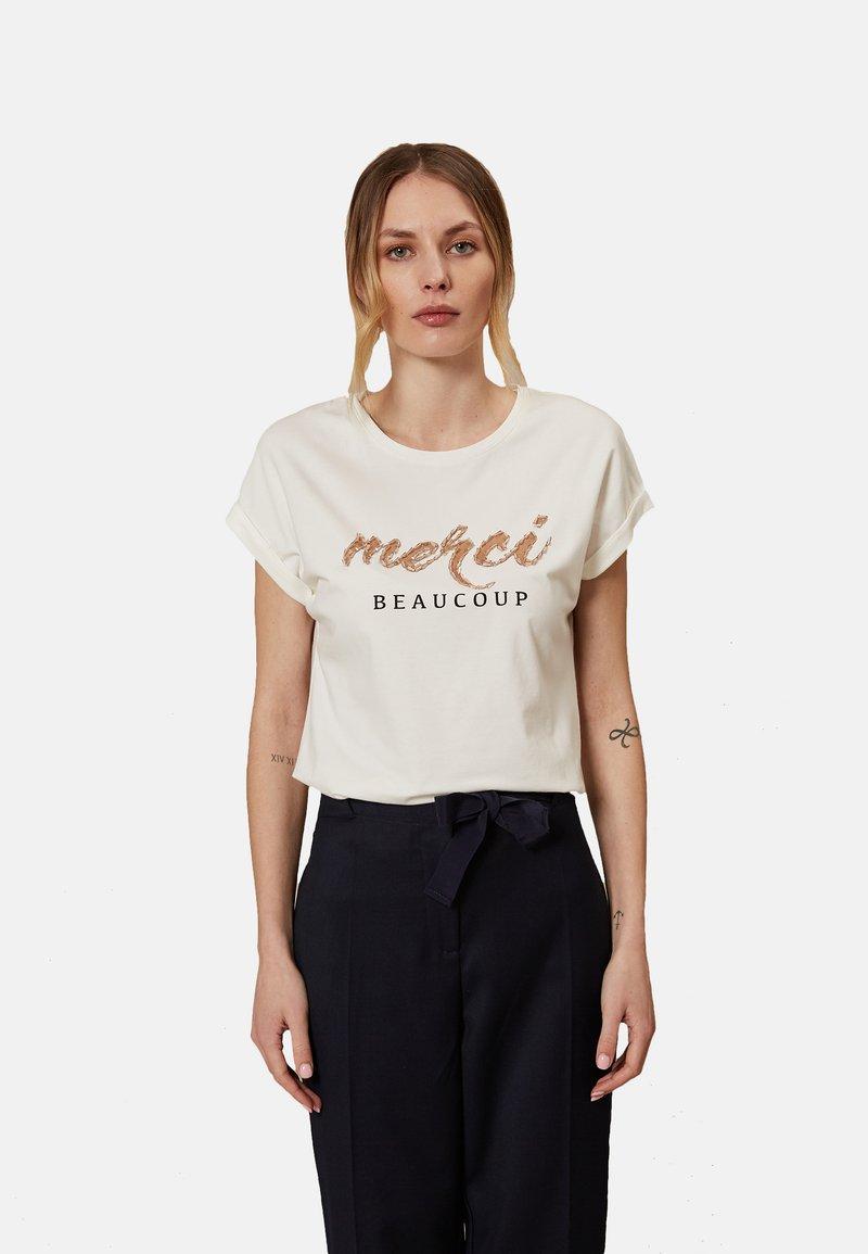 Oltre - Print T-shirt - white