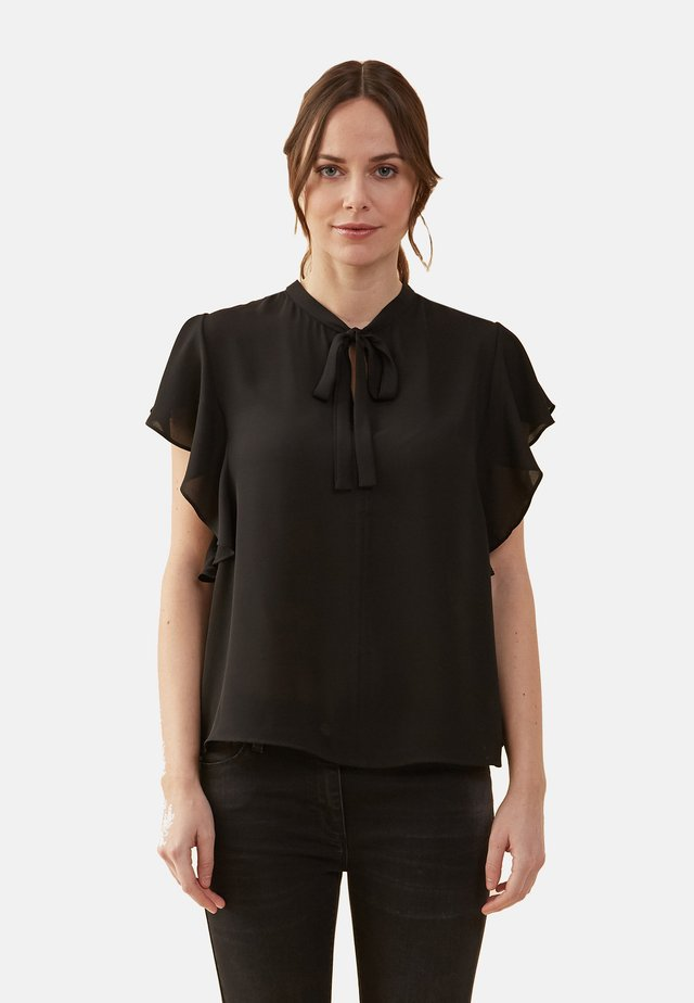CON VOLANT - Blouse - black